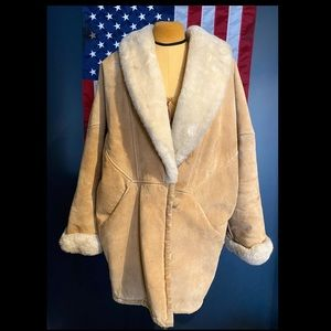 Vintage Heavy and WARM Suede Chore Coat